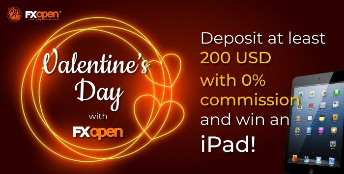 在FXOpen的情人节促销中赢取iPad