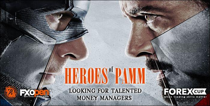 """真实PAMM账户""""PAMM英雄""""比赛第三阶段从4月2日开始"""