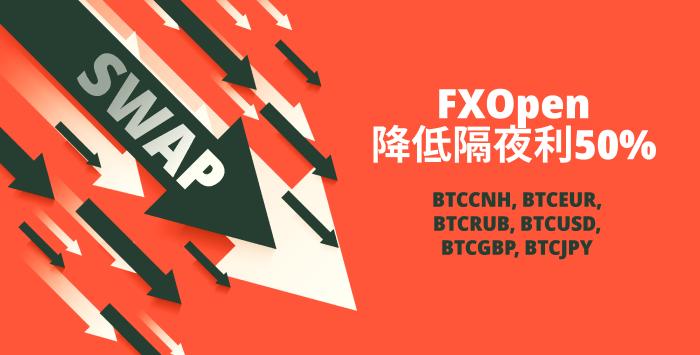 FXOpen降低了加密货币多头隔夜利息